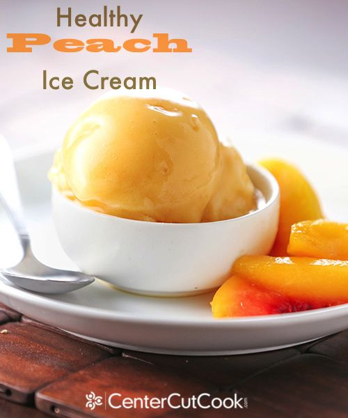 This healthy Peach Ice Cream is actually vegan, and it literally takes ...