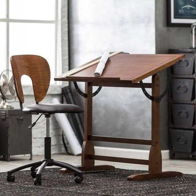 Vintage Drafting Table And Chair Set Cool Designs Pinterest