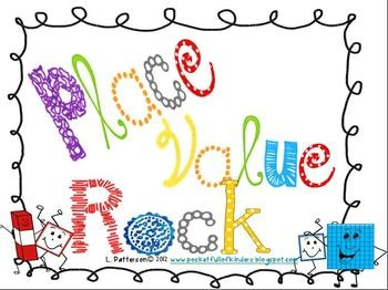 Place Value Rock-to the hundreds-mats, number cards, word cards, place value manipulatives