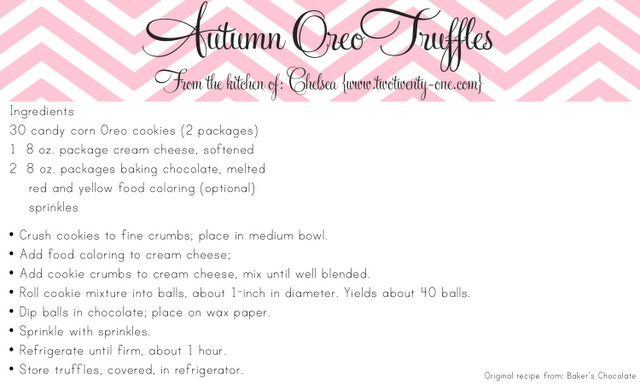 two twenty one: Candy Corn Oreo Truffles {Oreo Truffles}