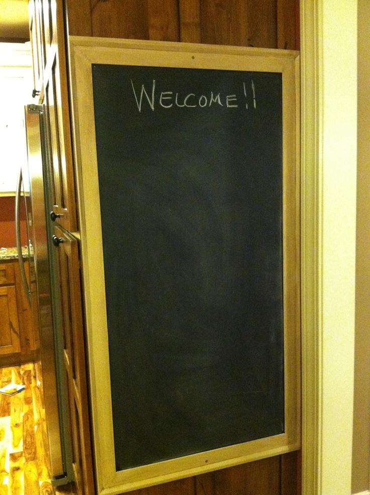 chalk magnet board. 48