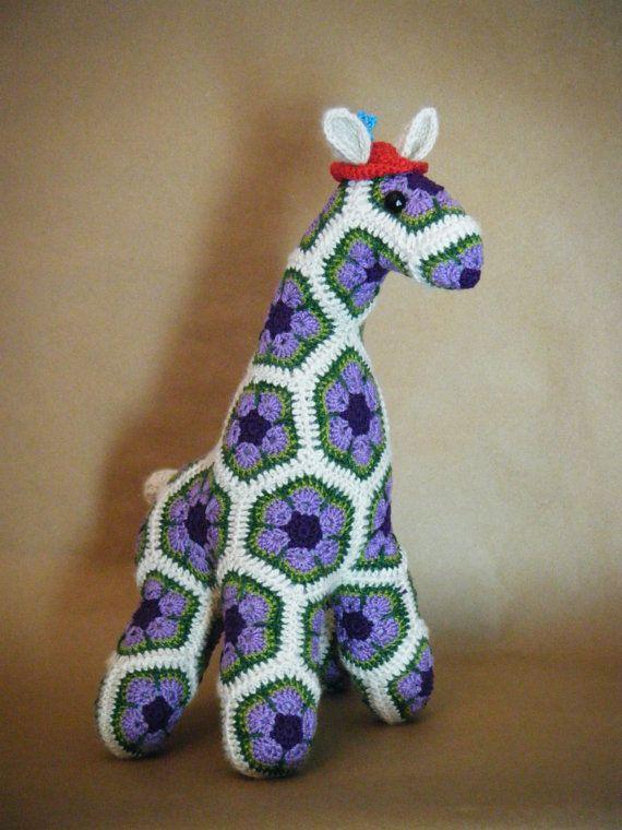 African Flower Pony Crochet Pattern : Custom Handmade African Flower Crochet Horse
