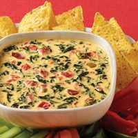 Spinach, bacon, velveeta dip :)