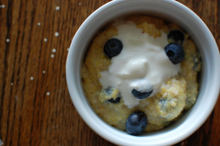 blueberry almond breakfast polenta. I thought this was lovely.
