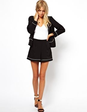 Image 4 of ASOS Blazer with Contrast Piping