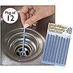 """""""Sani-Clean Drain Sticks""""  Biodegradable and environment friendly mini-sticks have enzymes that break down food and grease buildup. Insert one stick per month into your bath and kitchen drains to keep them clear and odor-free. Work great! $14.99 for a dozen"""