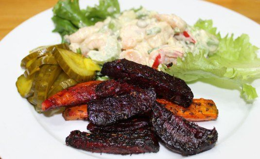 """Oven Roasted Carrot and Beet """"Fries"""" 