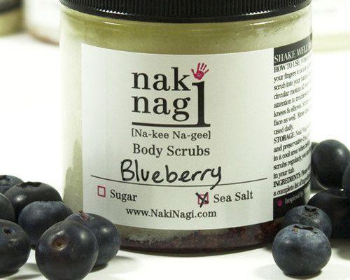 ... body scrub blueberry vegan and paraben free handmade by naki nagi body