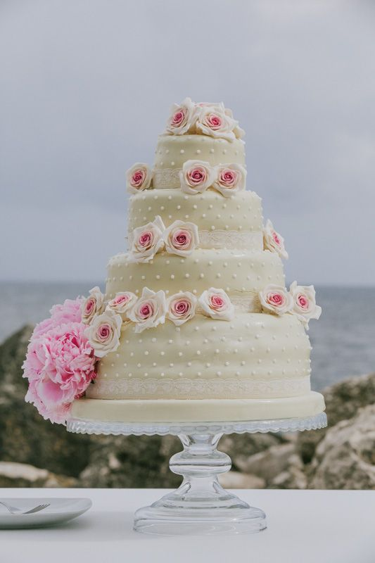 Red velvet wedding cake with white chocolate cream cheese frosting ...