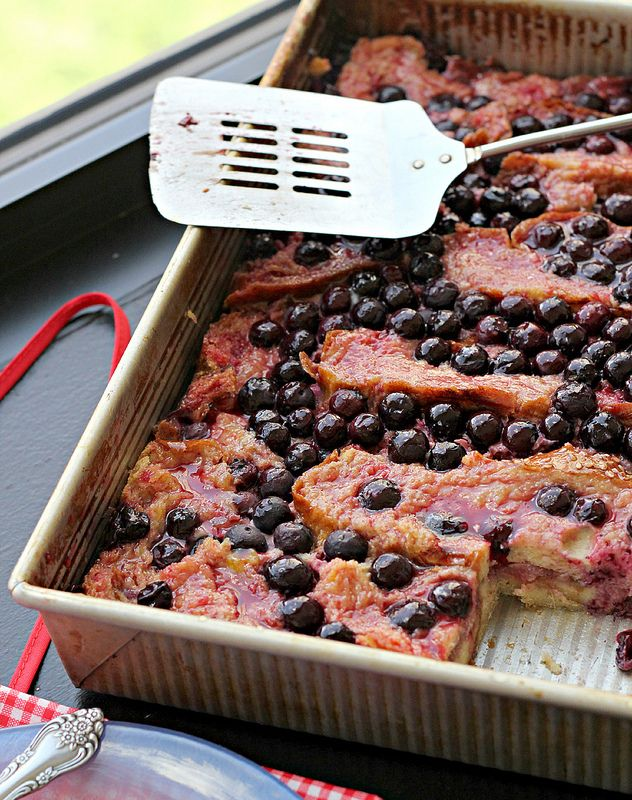 Recipe: Rhubarb, Blueberry and Ginger Brioche Bread Pudding
