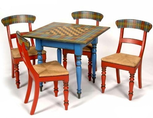 Game Table Painted Furniture Pinterest