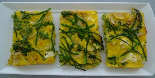 broccolini onion feta frittata | Just Food | Pinterest