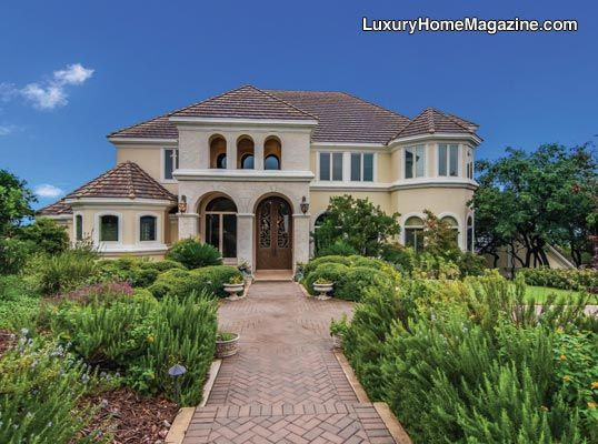 Grand home with six bedrooms music room floating staircase elevator