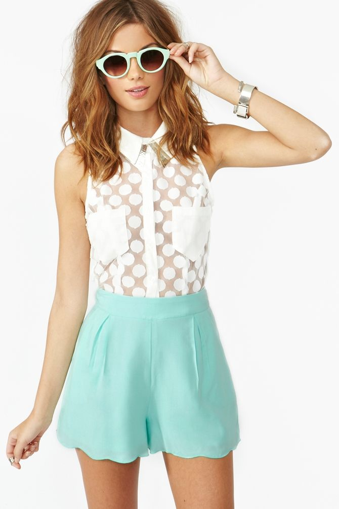 Very Zooey. Shorts like these are perfect for my bum and waist! Veracruz Shorts in mint, $38.