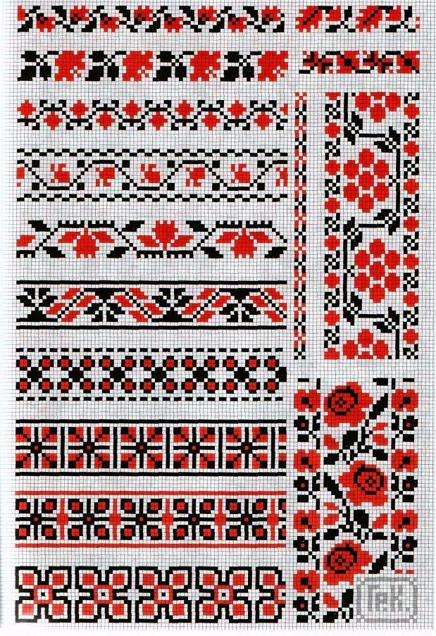 Схемы для вышивки крестом в украинском стиле