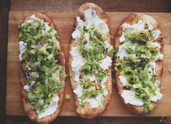 """In This Kitchen"""" by Cynthia Grady + Flatbread with Leeks and Ricotta"""