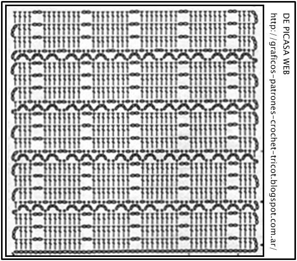 Graficos de crochet o ganchillo patrones pinterest - Patrones de ganchillo ...