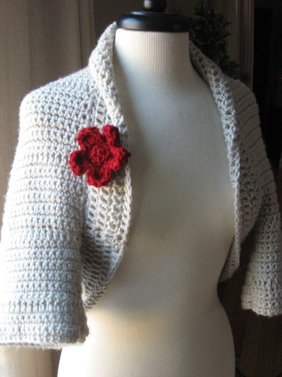 Simple to Make Elegant Crochet Shrug with Flower Blossom ...