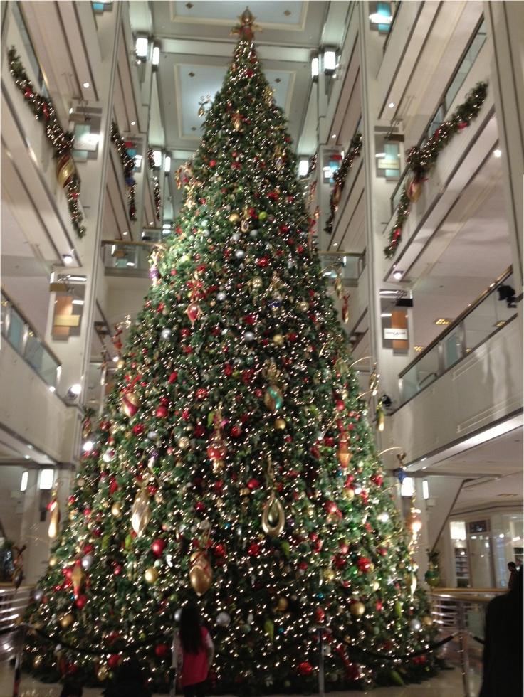 Bloomingdales building christmas tree trees