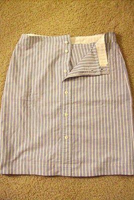 Men's shirt to spring skirt tutorial