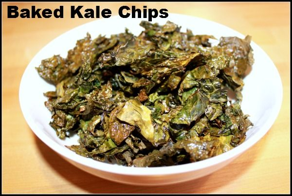 Baked Kale Chips...not the prettiest but worth a try?