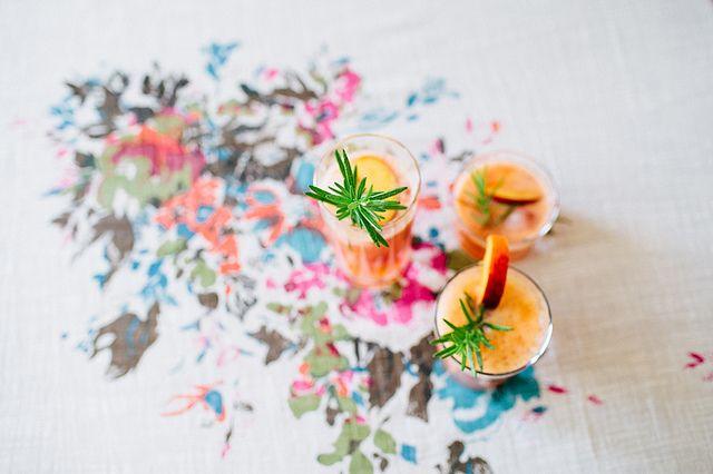 peach & rosemary summer fizz | via @Jennifer Hagler