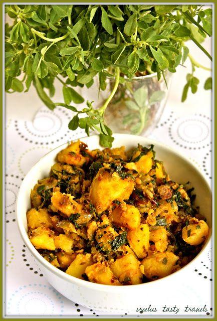 Aloo Methi - Potatoes With Fenugreek | Meal ideas | Pinterest