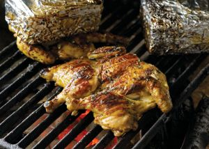 Tuscan-style Chicken Under a Brick (California Olive Ranch)