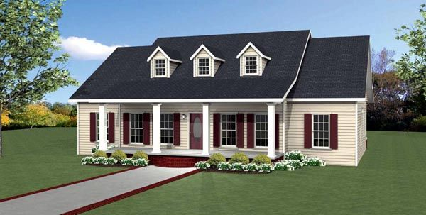 Country Southern Traditional House Plan 64587