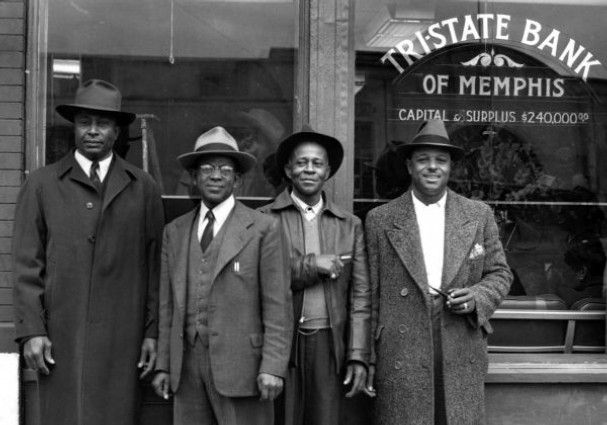 This photo of the opening of Tri-State Bank was made by Rev. L.O. Taylor in 1946. From the 1920s to the 1960s, Taylor documented Memphis' black community.Courtesy Center for Southern Folklore