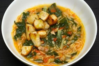 Swiss Chard & Pasta Soup http://punchfork.com/recipe/Swiss-Chard-and ...