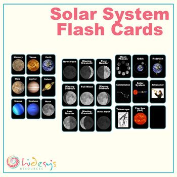 printable solar system flash cards - photo #28