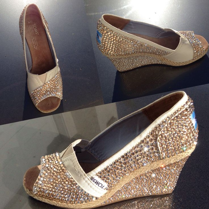 Wedding Toms #DIY #Swarovski #rhinestones