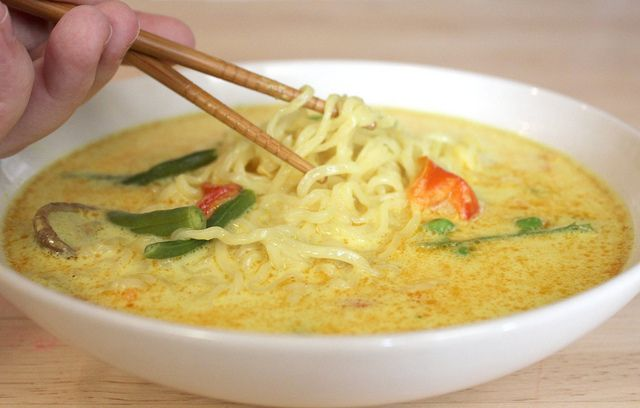Ten Minute Coconut Curry Chicken Noodle Soup by MommyNamedApril, via ...