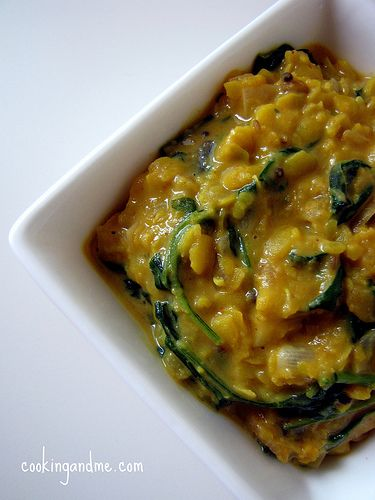 Sri Lankan Palak Dal /Lentils with Spinach