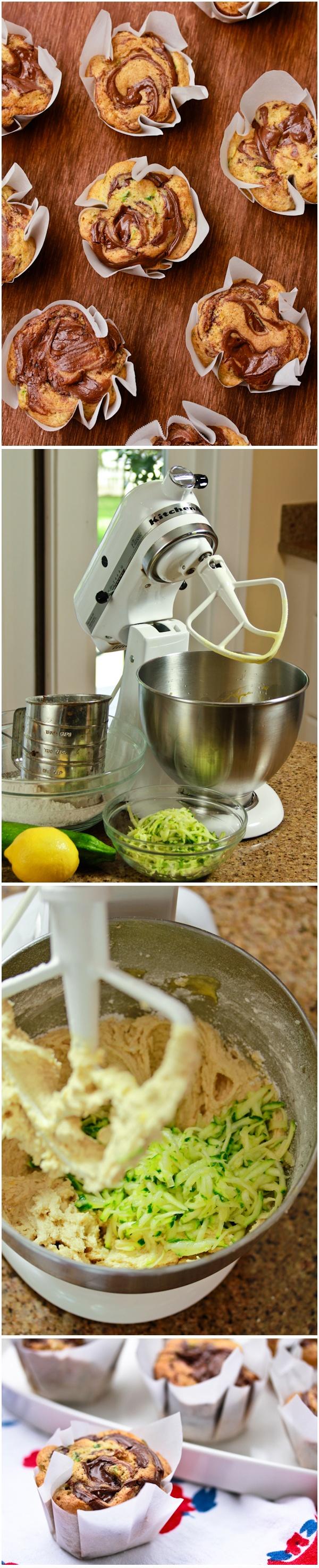 Zucchini Nutella Swirl Muffins Recipe | Muffins | Pinterest