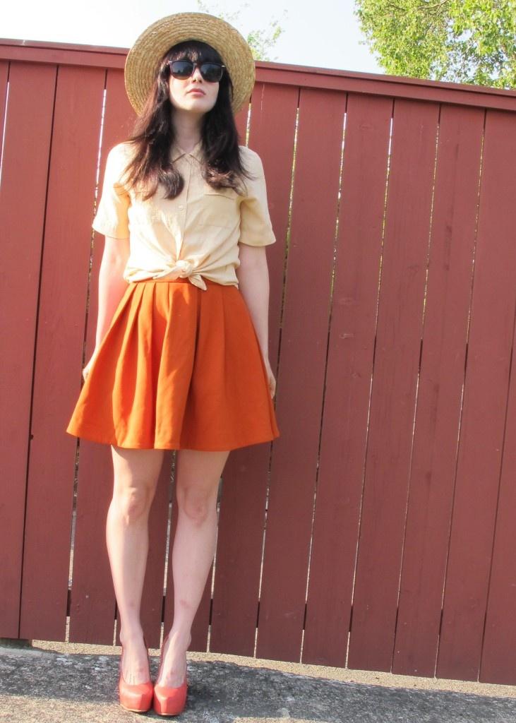 cream and orange