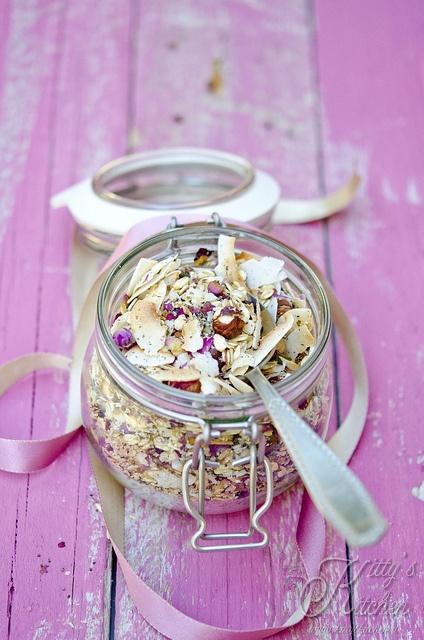 Rose Petal granola | food | Pinterest
