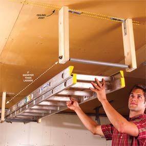 Garage Ladder Storage