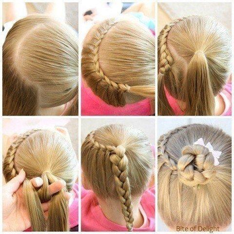 Прически для девочек на короткие волосы с пошаговым