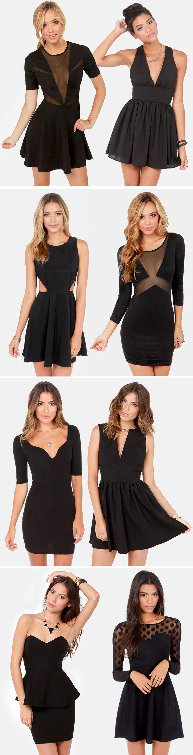 Black Party Dresses via lulus.com