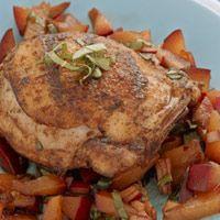 Spicy Chicken Thighs with Plum Chutney | Food | Pinterest