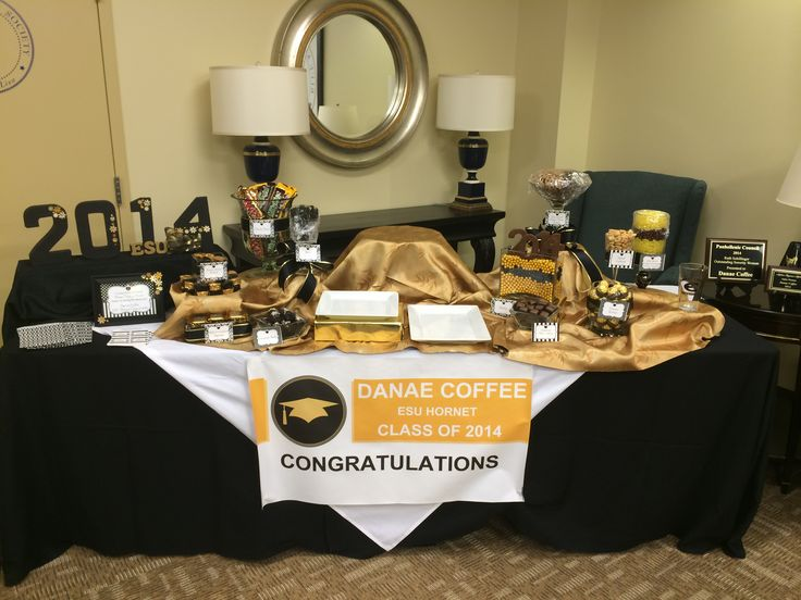 Graduation Candy Buffet Black And Gold Grad Pinterest