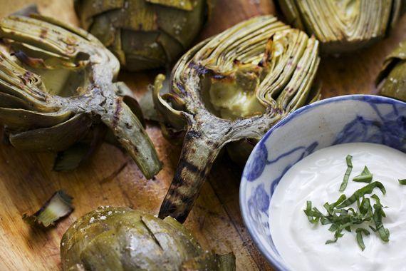 artichokes on the grill with lemon aioli | eat..eat..eat | Pinterest