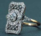 A diamond ring recovered from the Titanic wreck site. The Titanic went down 100 years ago today