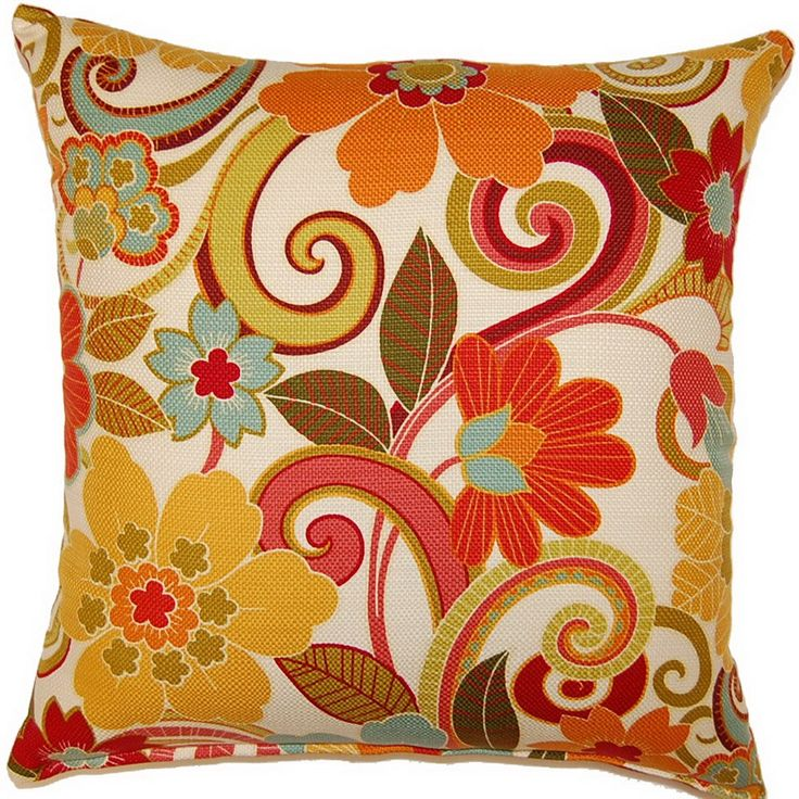 Throw Pillows For Red Leather Couch : Zavalla Rainbow 17-inch Throw Pillows (Set of 2)