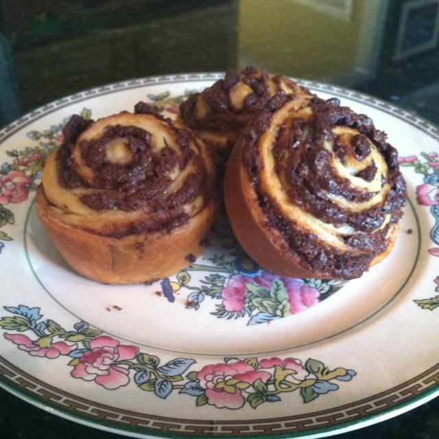 Chocolate swirl buns | recipies | Pinterest