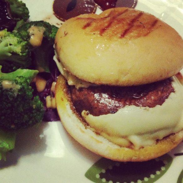 Portobello Mushroom Cheeseburger! Click for recipe
