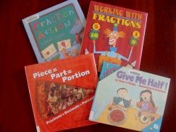 List of books and ideas to teach fractions.