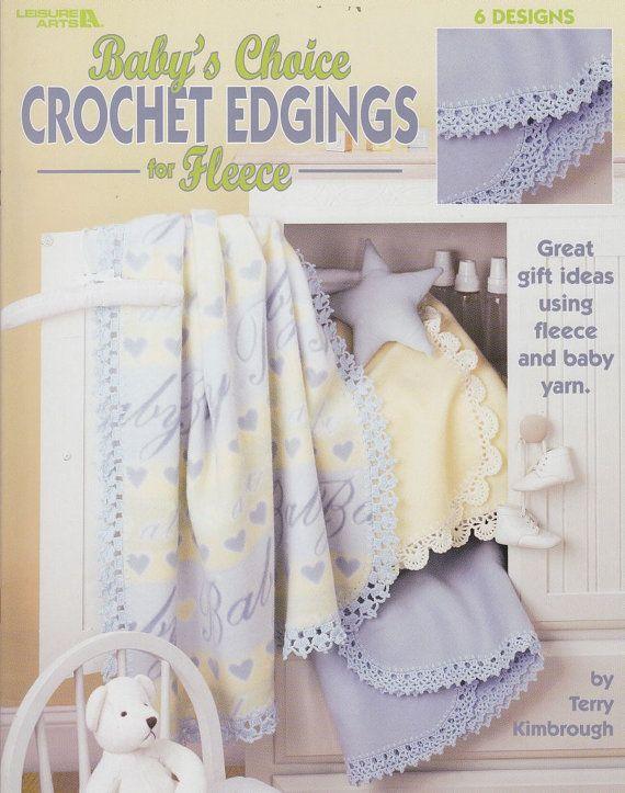 Flannel Baby Blanket Crochet Edging Patterns : Crochet Edgings for Fleece Baby Blankets - 6 Crochet Patterns